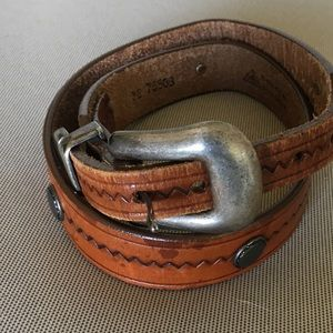 Women's Brown Leather Western Belt